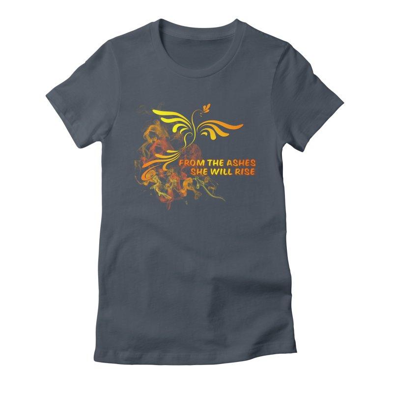 Phoenix Rising Women's T-Shirt by tinymystic's Artist Shop