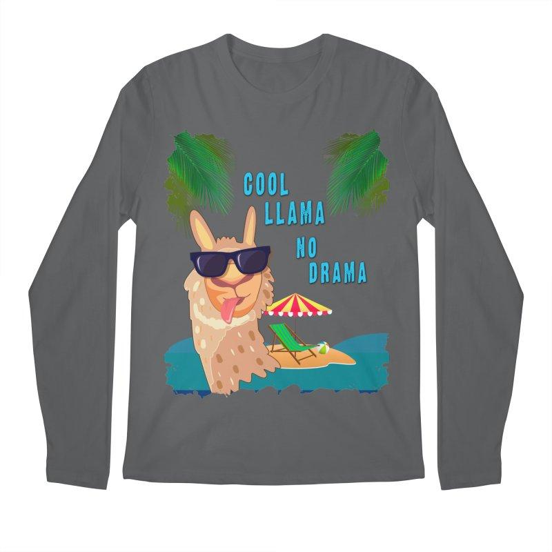 Cool Llama No Drama Men's Longsleeve T-Shirt by tinymystic's Artist Shop