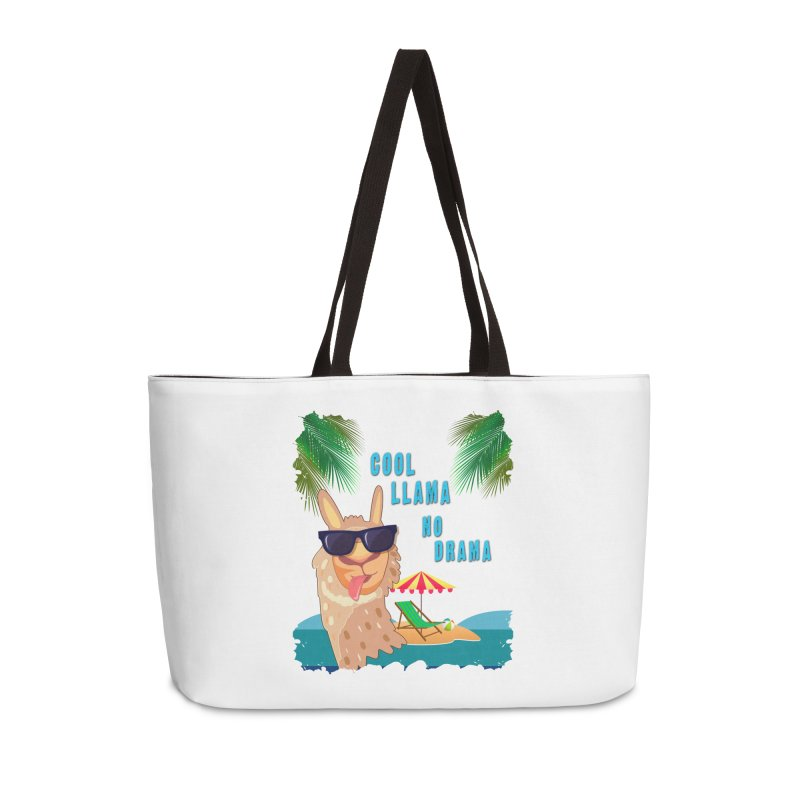 Cool Llama No Drama Accessories Bag by tinymystic's Artist Shop
