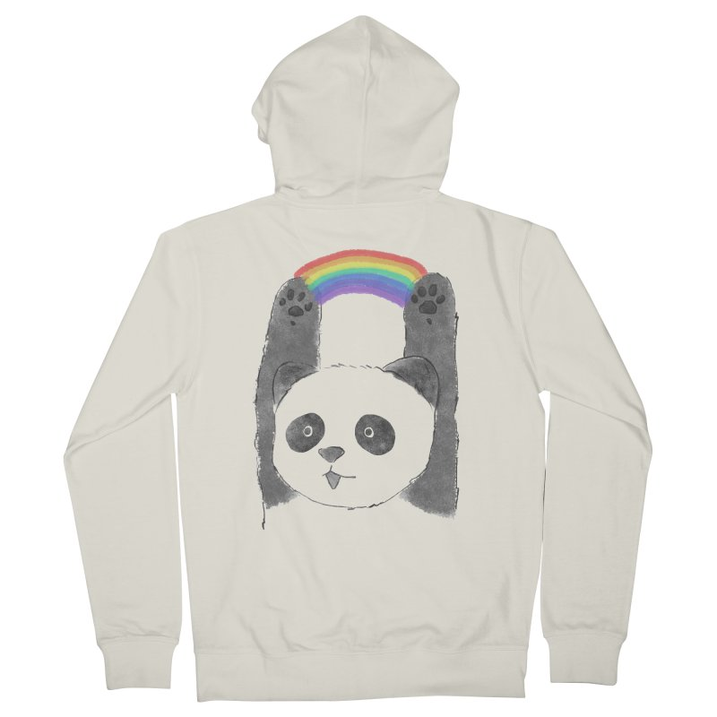 Panda Beam Men's Zip-Up Hoody by tipsyeyes's Artist Shop