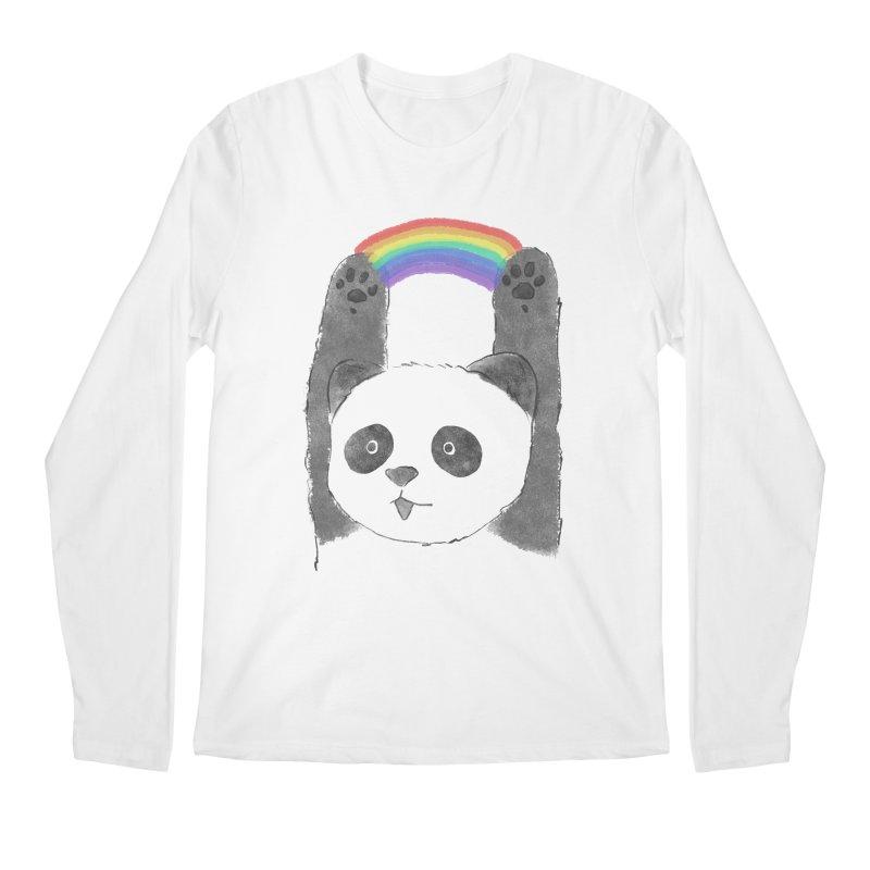 Panda Beam Men's Longsleeve T-Shirt by tipsyeyes's Artist Shop