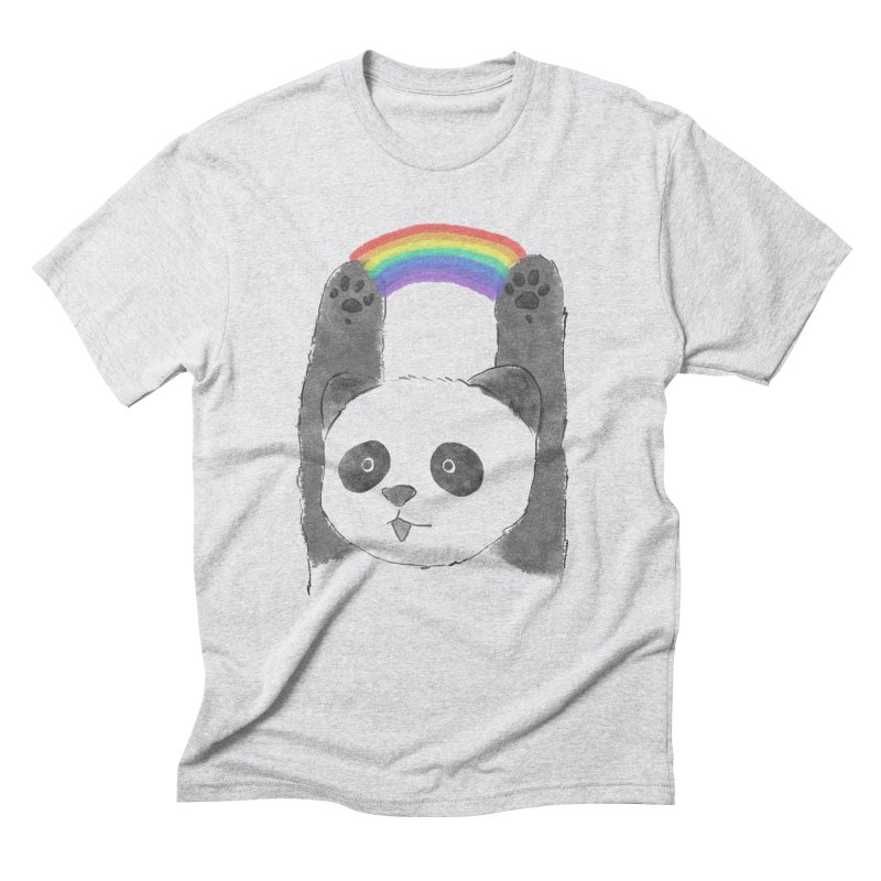 Panda Beam Men's Triblend T-Shirt by tipsyeyes's Artist Shop