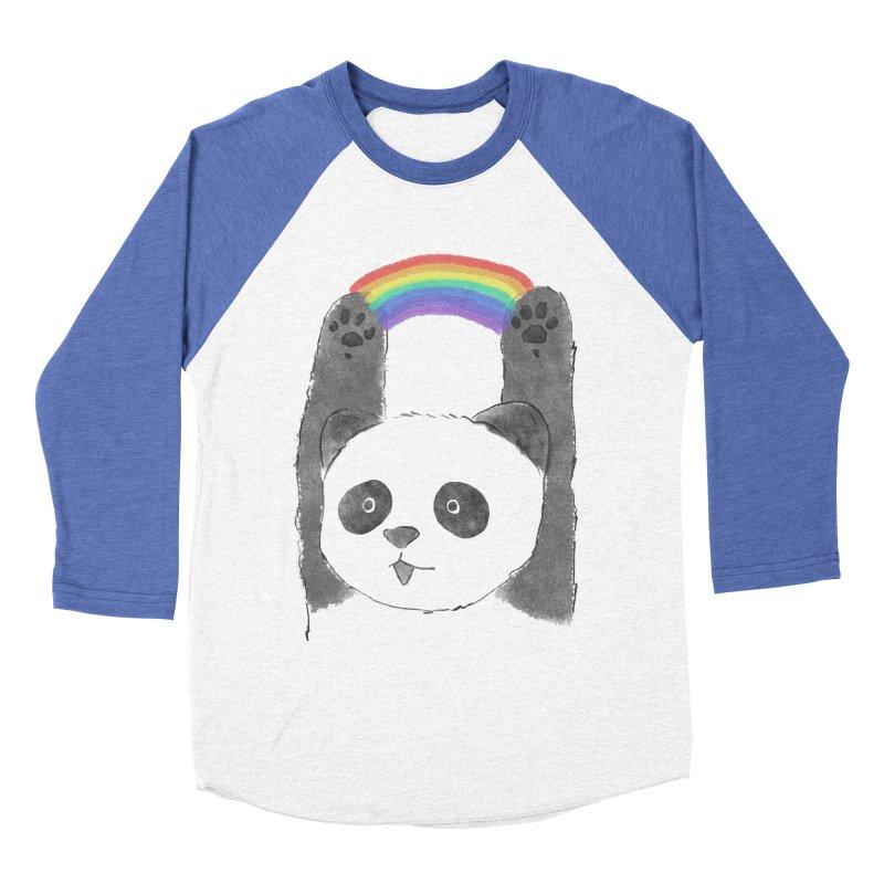 Panda Beam Men's Baseball Triblend T-Shirt by tipsyeyes's Artist Shop