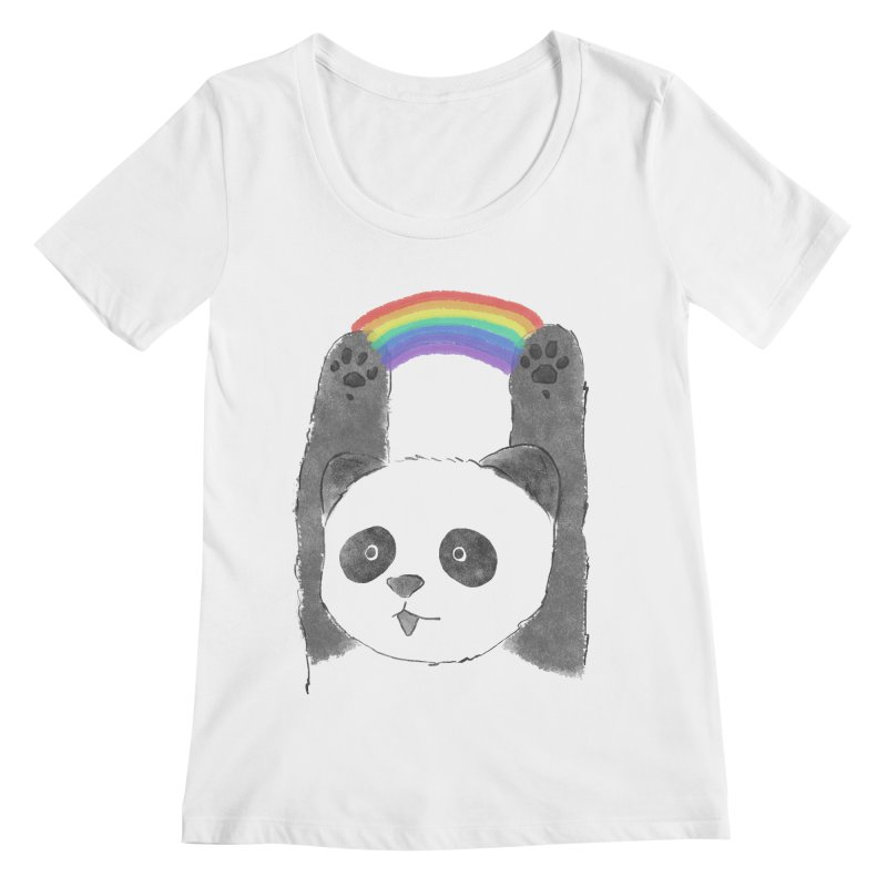 Panda Beam Women's Scoopneck by tipsyeyes's Artist Shop