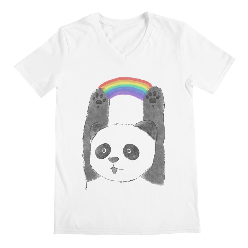 Panda Beam Men's V-Neck by tipsyeyes's Artist Shop