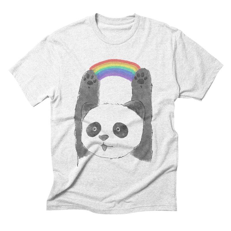 Panda Beam Men's Triblend T-shirt by tipsyeyes's Artist Shop