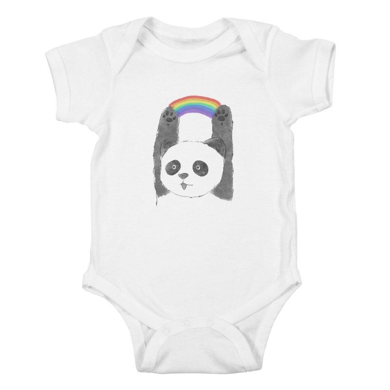 Panda Beam Kids Baby Bodysuit by tipsyeyes's Artist Shop