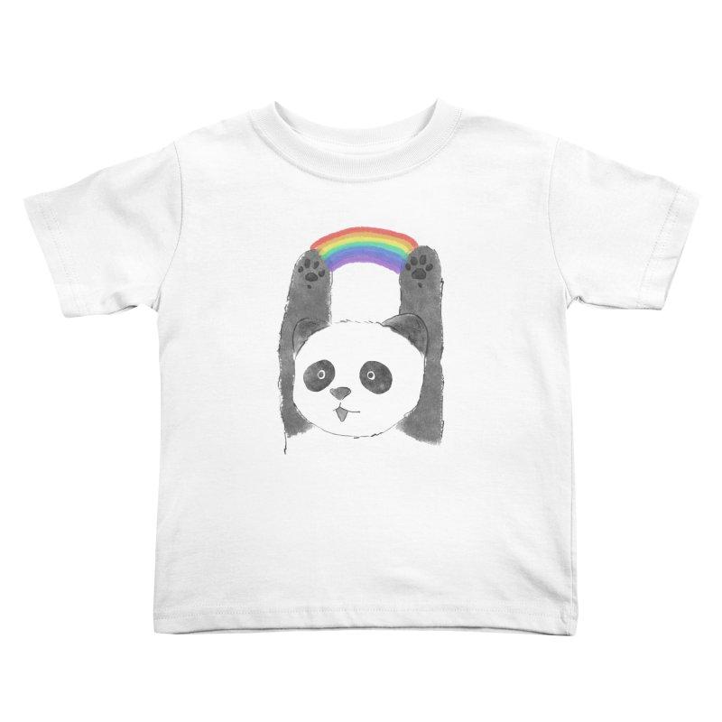 Panda Beam Kids Toddler T-Shirt by tipsyeyes's Artist Shop
