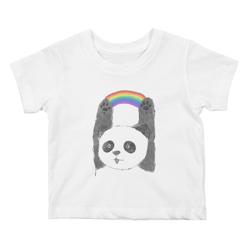 Panda Beam Kids Baby T-Shirt by tipsyeyes's Artist Shop