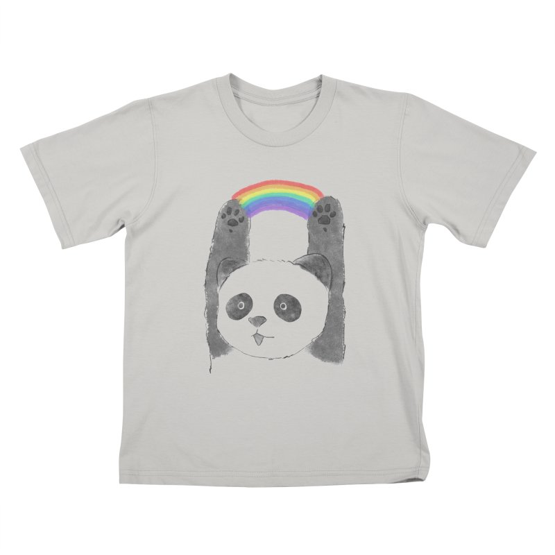 Panda Beam Kids T-Shirt by tipsyeyes's Artist Shop