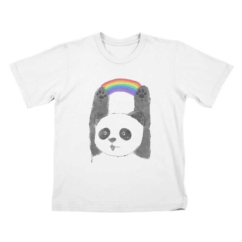 Panda Beam Kids T-Shirt by tipsyeyes's Artist Shop