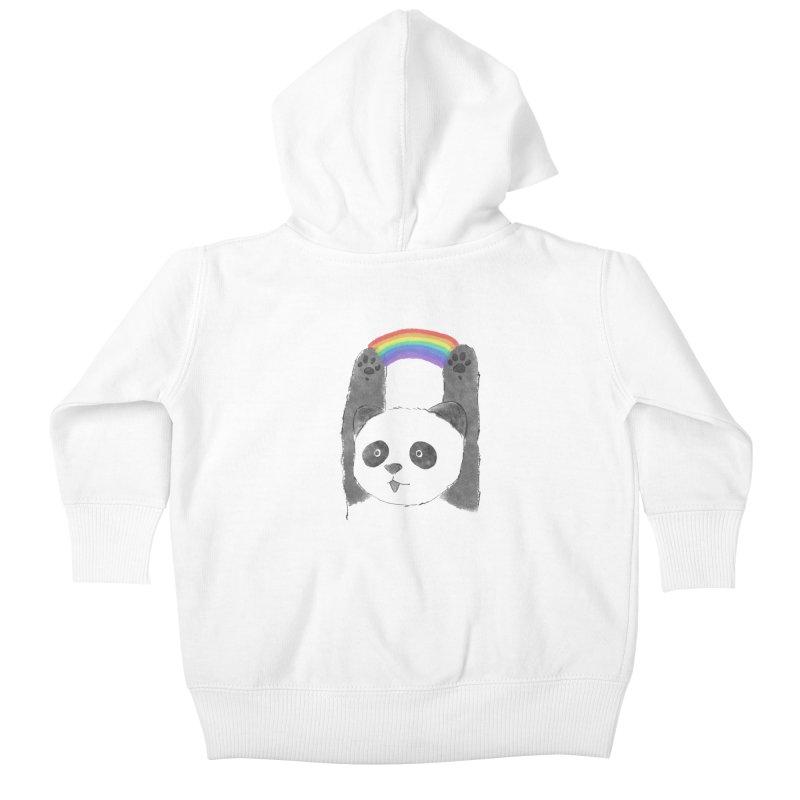 Panda Beam Kids Baby Zip-Up Hoody by tipsyeyes's Artist Shop