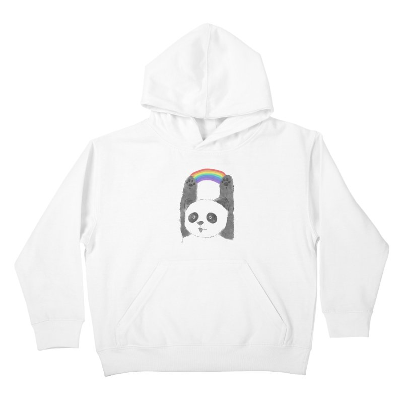 Panda Beam Kids Pullover Hoody by tipsyeyes's Artist Shop