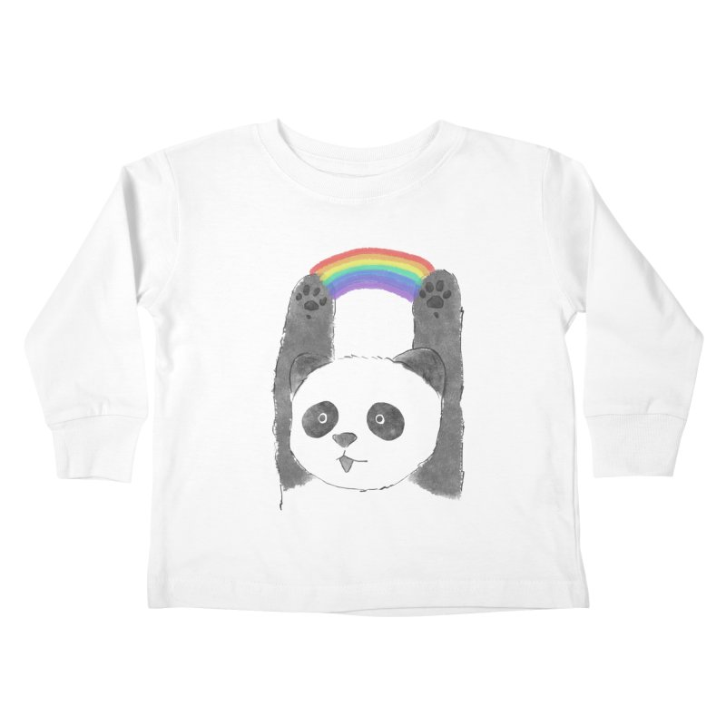 Panda Beam Kids Toddler Longsleeve T-Shirt by tipsyeyes's Artist Shop