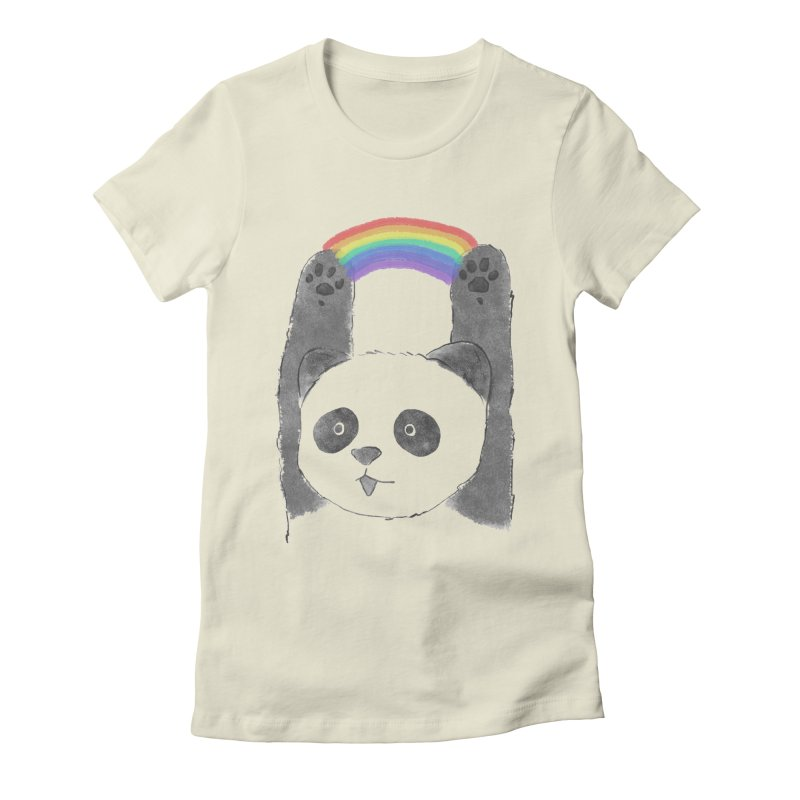 Panda Beam Women's Fitted T-Shirt by tipsyeyes's Artist Shop