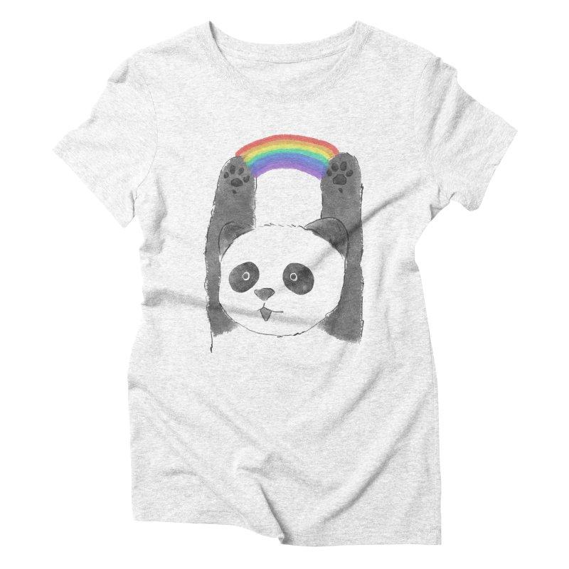 Panda Beam Women's Triblend T-shirt by tipsyeyes's Artist Shop