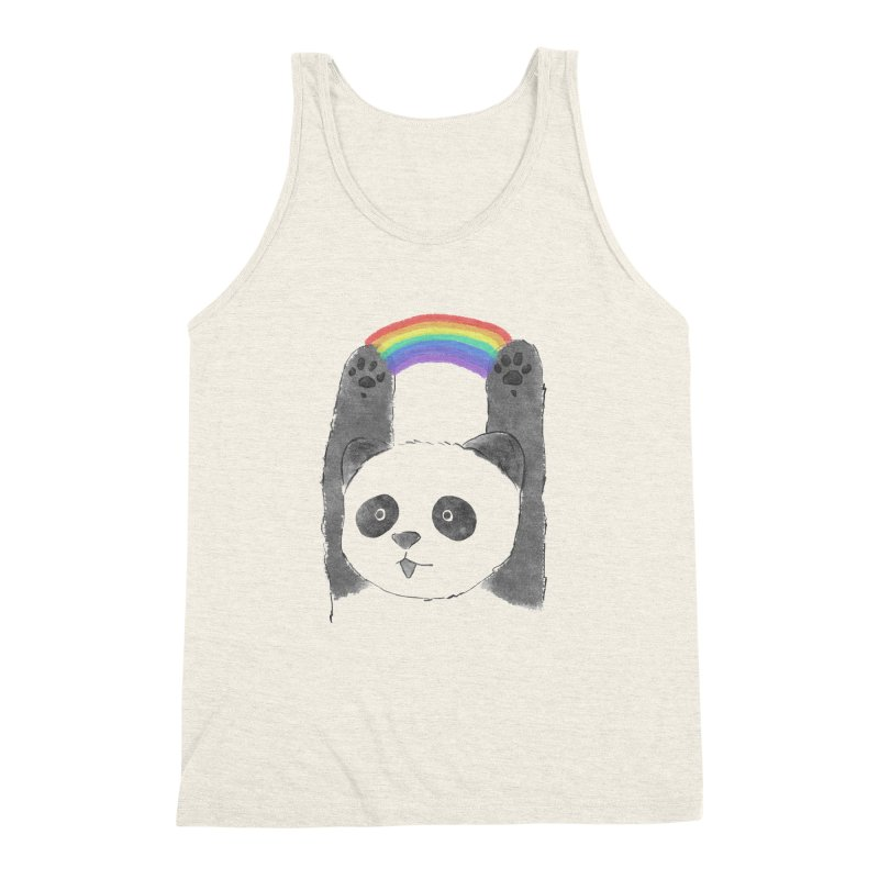 Panda Beam Men's Triblend Tank by tipsyeyes's Artist Shop