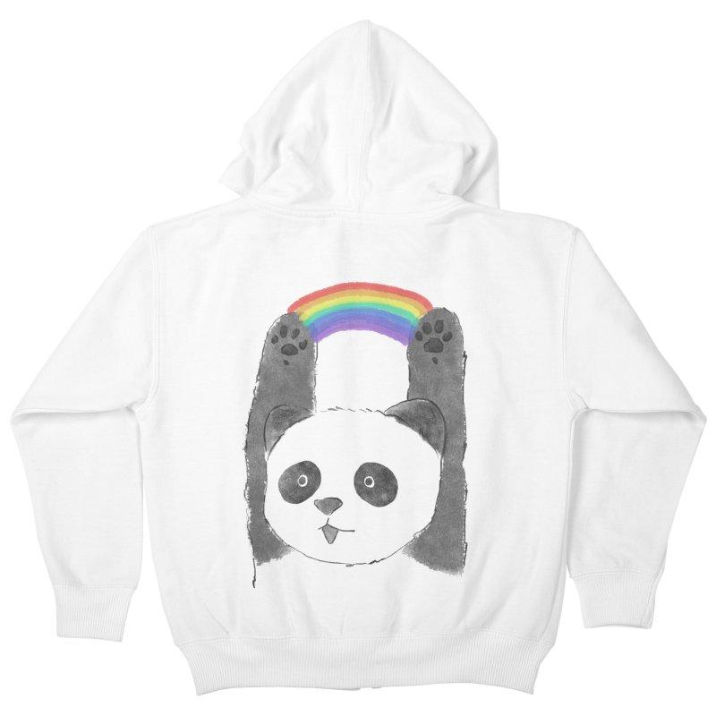 Panda Beam Kids Zip-Up Hoody by tipsyeyes's Artist Shop