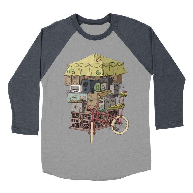 Pedicab Women's Baseball Triblend T-Shirt by tipsyeyes's Artist Shop