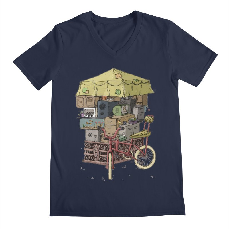 Pedicab Men's V-Neck by tipsyeyes's Artist Shop