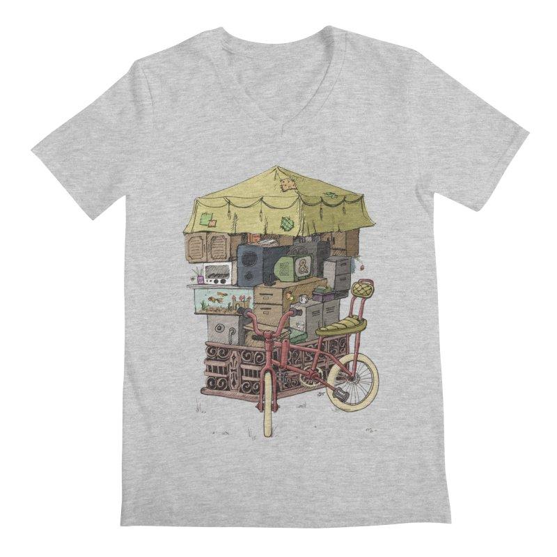 Pedicab Men's V-Neck by tipsyeyes's Artist Shop