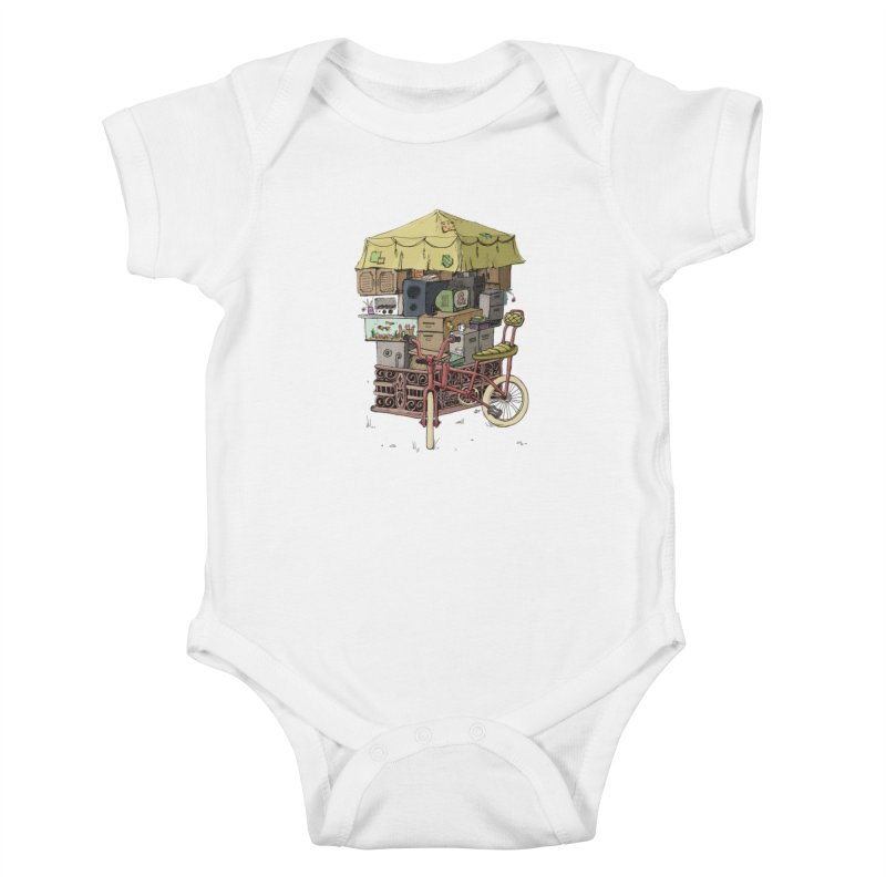 Pedicab Kids Baby Bodysuit by tipsyeyes's Artist Shop