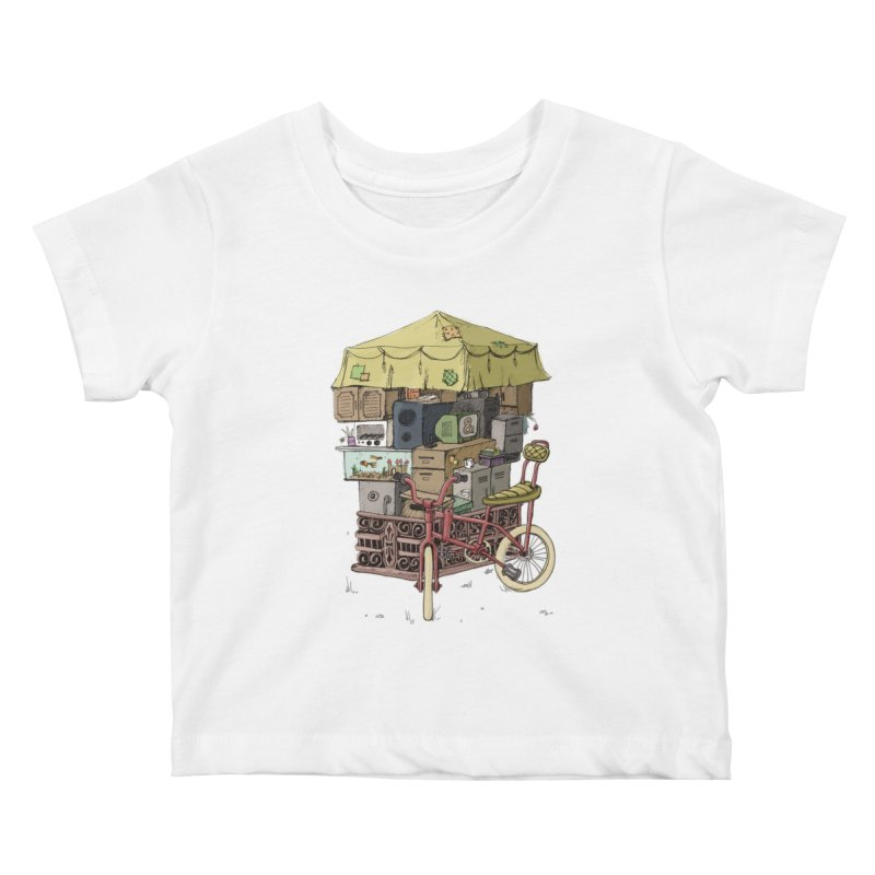 Pedicab Kids Baby T-Shirt by tipsyeyes's Artist Shop
