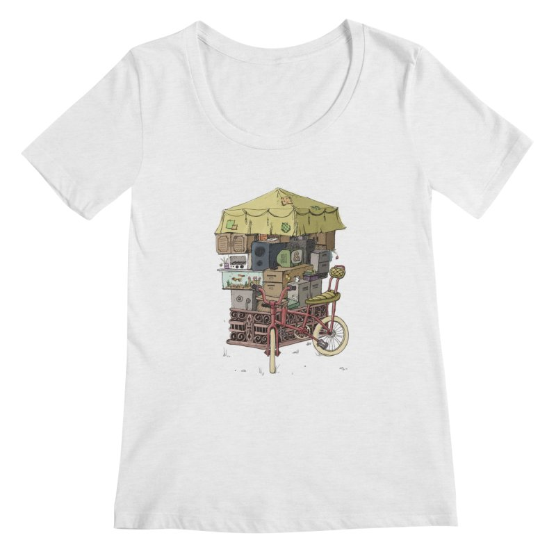 Pedicab Women's Scoopneck by tipsyeyes's Artist Shop
