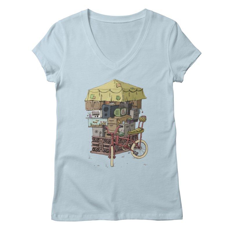 Pedicab Women's V-Neck by tipsyeyes's Artist Shop