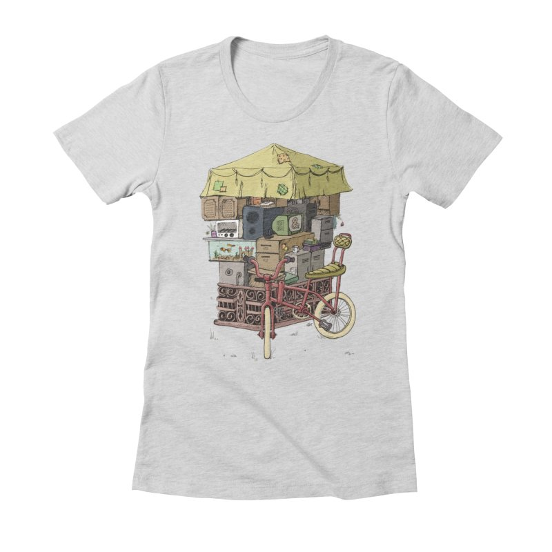 Pedicab Women's Fitted T-Shirt by tipsyeyes's Artist Shop