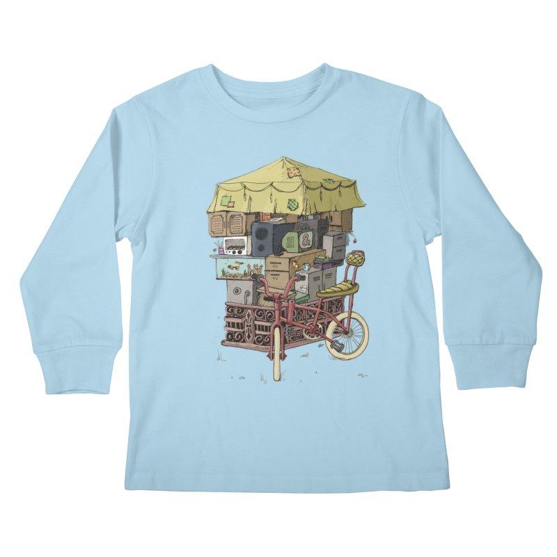 Pedicab Kids Longsleeve T-Shirt by tipsyeyes's Artist Shop