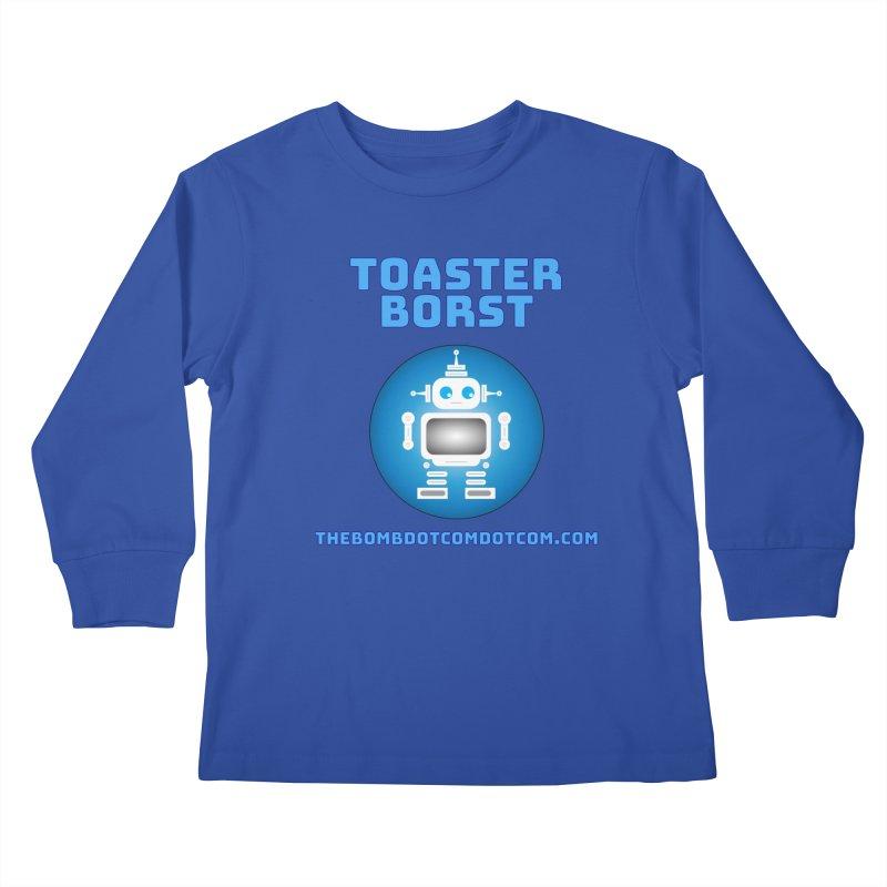Toaster Borst a TV Robot Kids Longsleeve T-Shirt by thebombdotcomdotcom.com