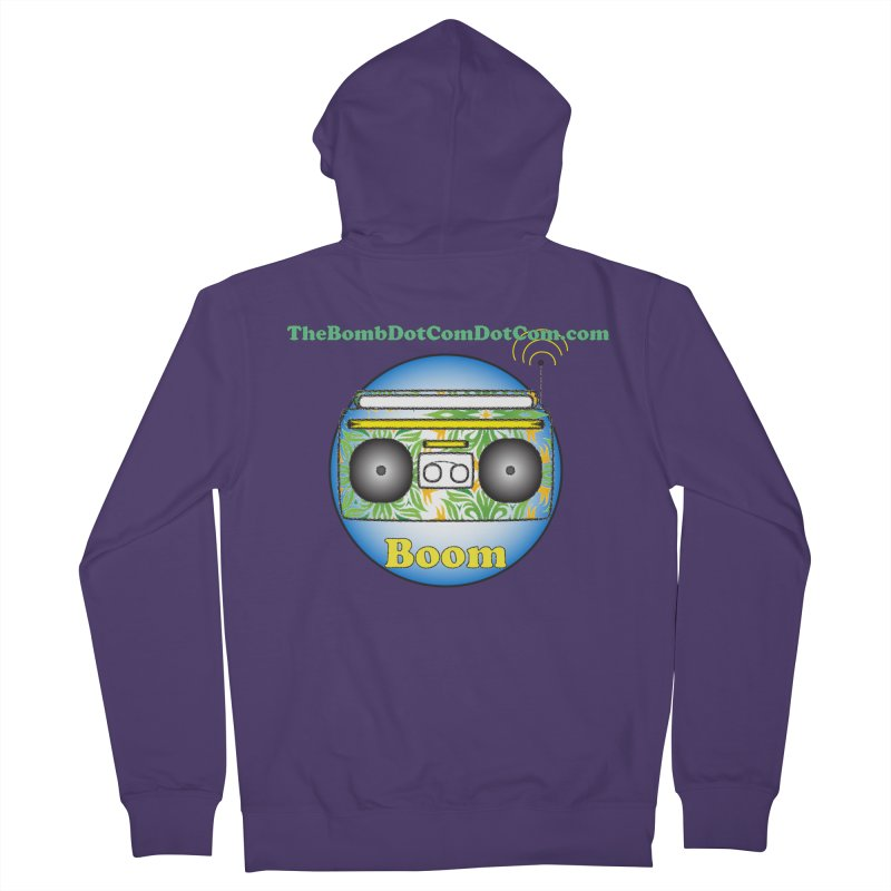 "Isaac Carlin ""Boom"" Women's French Terry Zip-Up Hoody by thebombdotcomdotcom.com"
