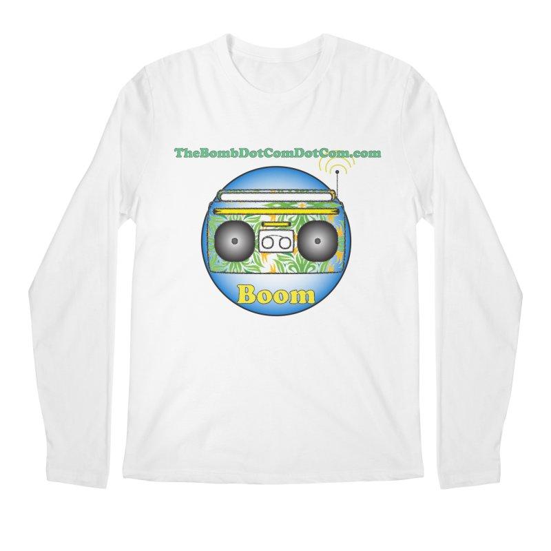 "Isaac Carlin ""Boom"" Men's Regular Longsleeve T-Shirt by thebombdotcomdotcom.com"