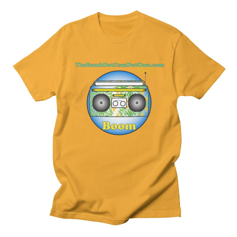 "Isaac Carlin ""Boom"" Men's Regular T-Shirt by thebombdotcomdotcom.com"