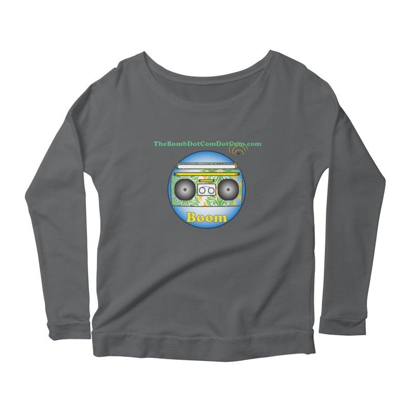 "Isaac Carlin ""Boom"" Women's Scoop Neck Longsleeve T-Shirt by thebombdotcomdotcom.com"