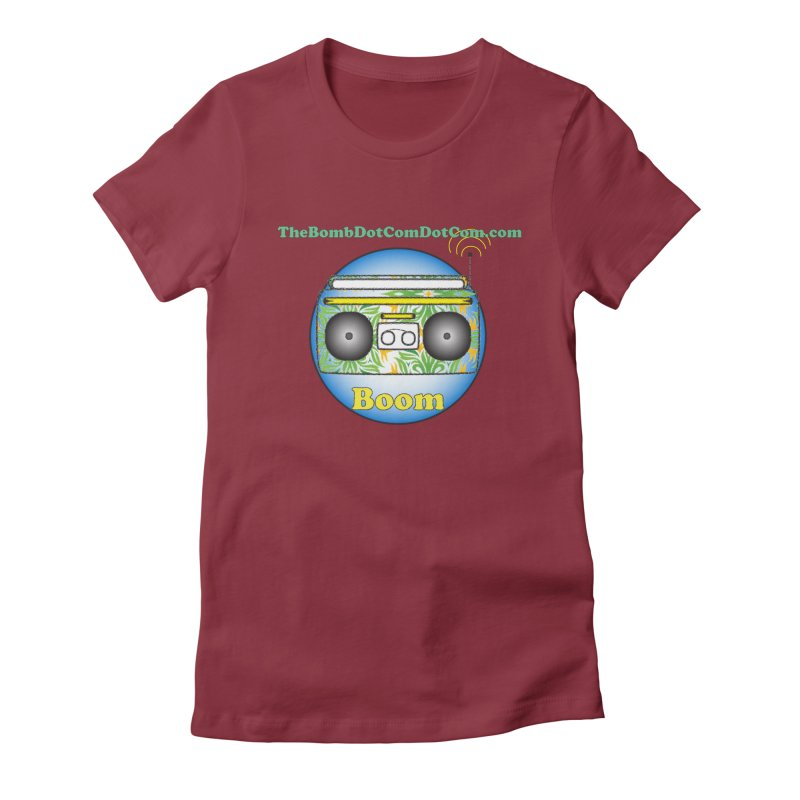 "Isaac Carlin ""Boom"" Women's Fitted T-Shirt by thebombdotcomdotcom.com"