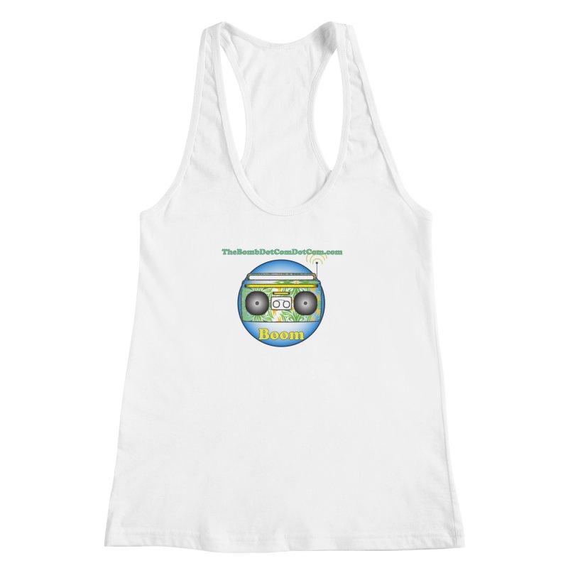 "Isaac Carlin ""Boom"" Women's Racerback Tank by thebombdotcomdotcom.com"