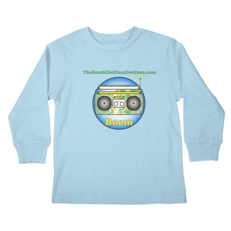 "Isaac Carlin ""Boom"" Kids Longsleeve T-Shirt by thebombdotcomdotcom.com"