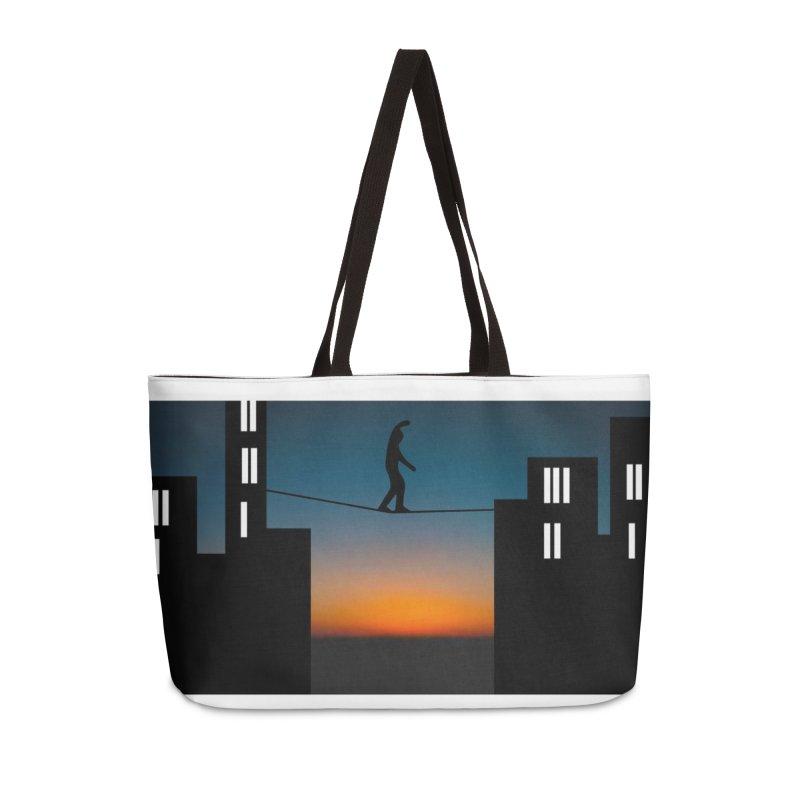 GuyOnAWire.com for Jamie Gagnon Accessories Weekender Bag Bag by thebombdotcomdotcom.com