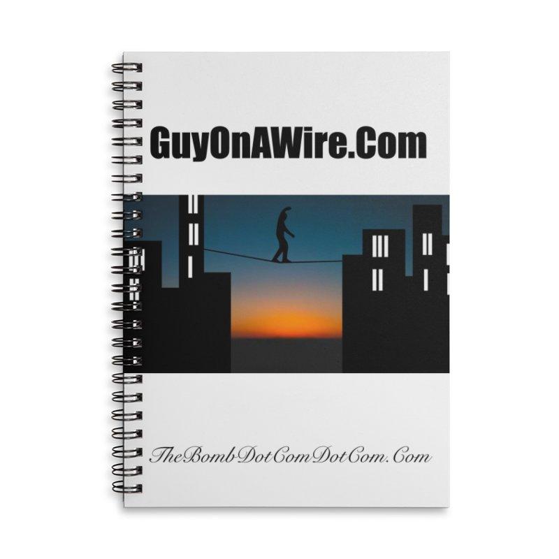 GuyOnAWire.com for Jamie Gagnon Accessories Lined Spiral Notebook by thebombdotcomdotcom.com