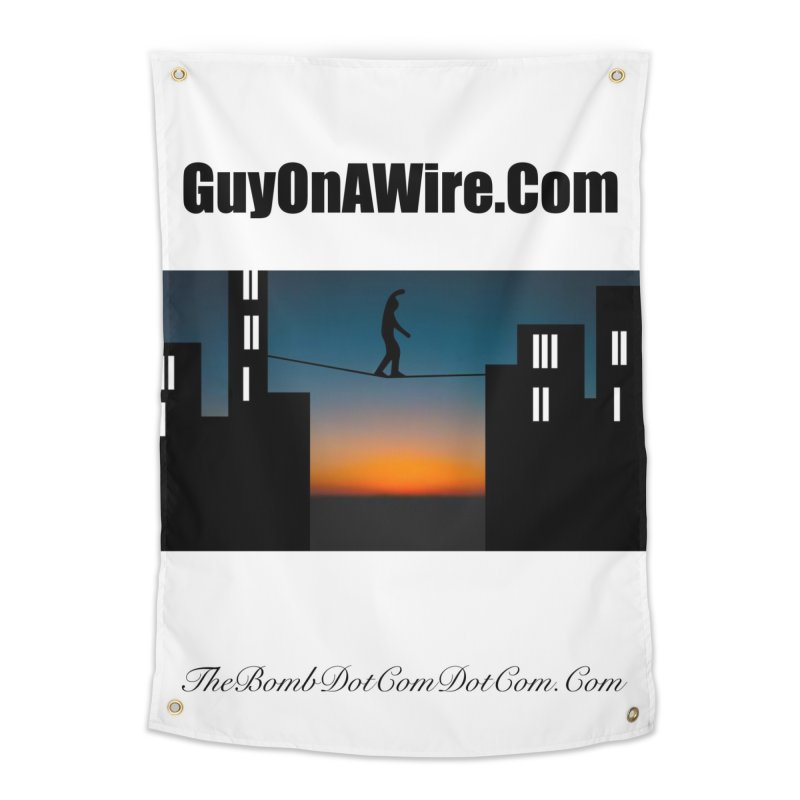 GuyOnAWire.com for Jamie Gagnon Home Tapestry by thebombdotcomdotcom.com