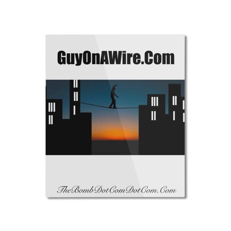 GuyOnAWire.com for Jamie Gagnon Home Mounted Aluminum Print by thebombdotcomdotcom.com