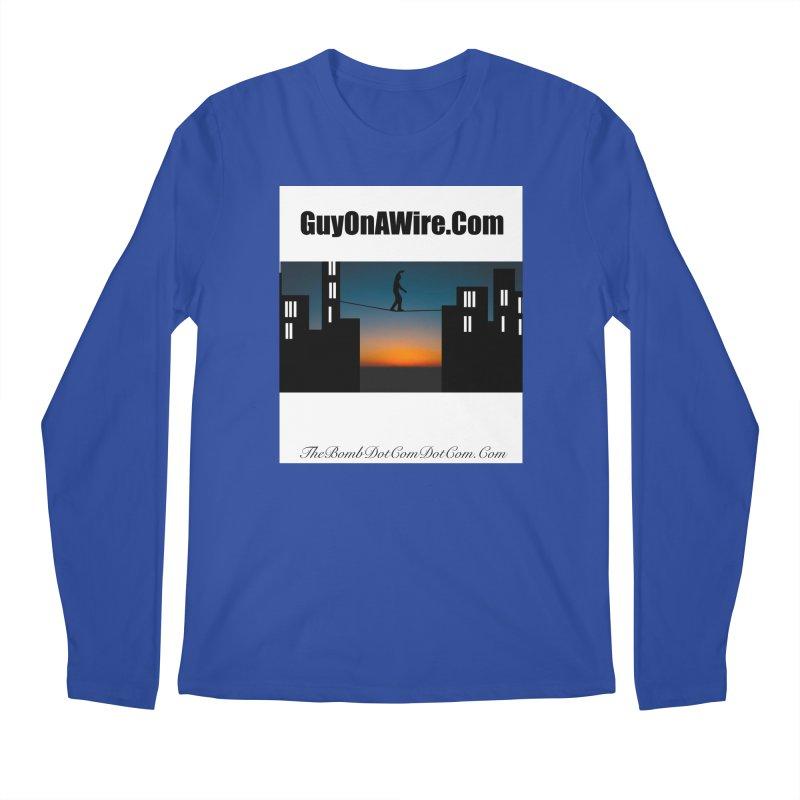 GuyOnAWire.com for Jamie Gagnon Men's Regular Longsleeve T-Shirt by thebombdotcomdotcom.com