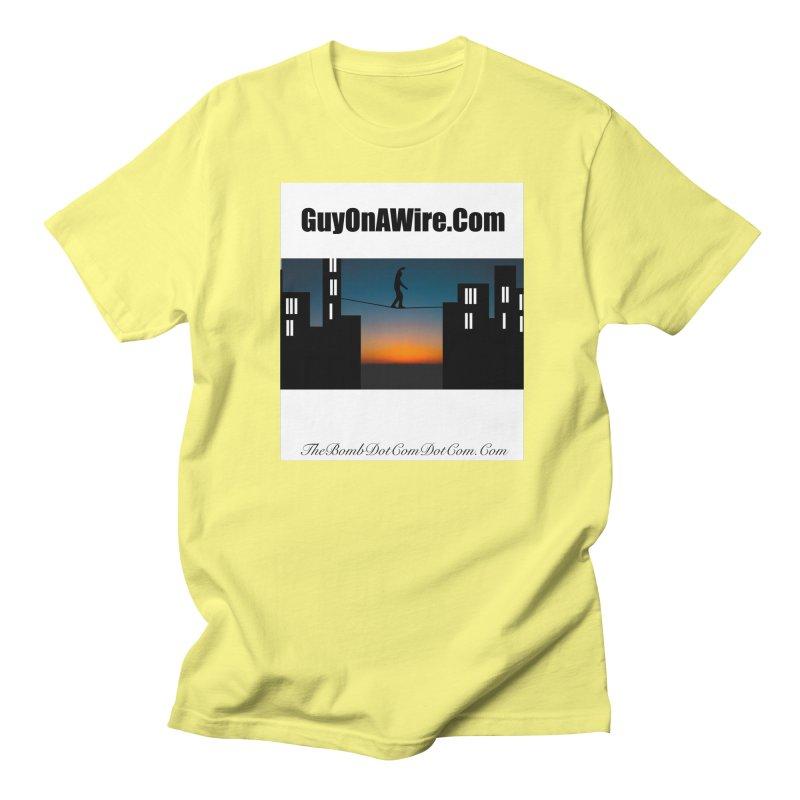 GuyOnAWire.com for Jamie Gagnon Men's Regular T-Shirt by thebombdotcomdotcom.com