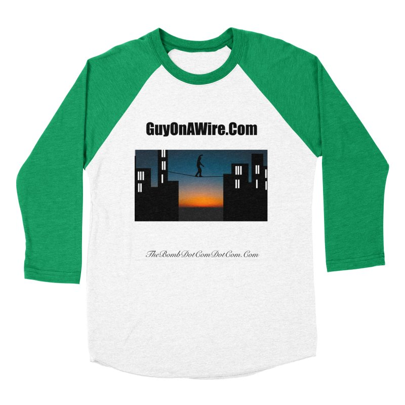 GuyOnAWire.com for Jamie Gagnon Women's Baseball Triblend Longsleeve T-Shirt by thebombdotcomdotcom.com