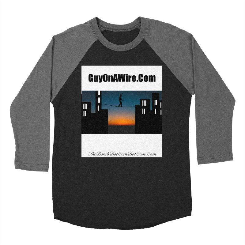 GuyOnAWire.com for Jamie Gagnon Men's Baseball Triblend Longsleeve T-Shirt by thebombdotcomdotcom.com