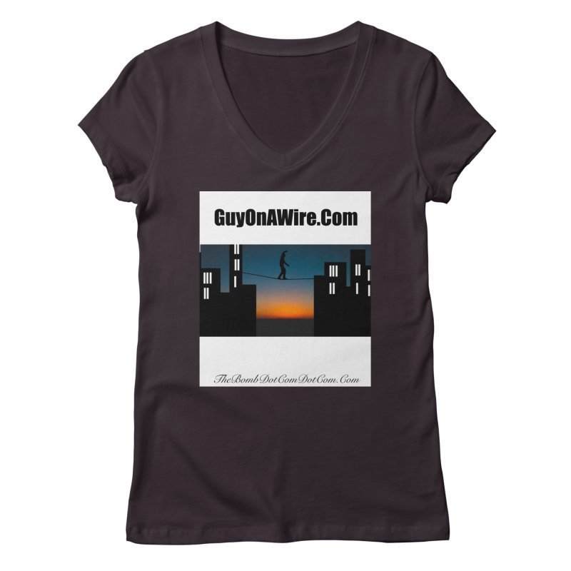 GuyOnAWire.com for Jamie Gagnon Women's Regular V-Neck by thebombdotcomdotcom.com