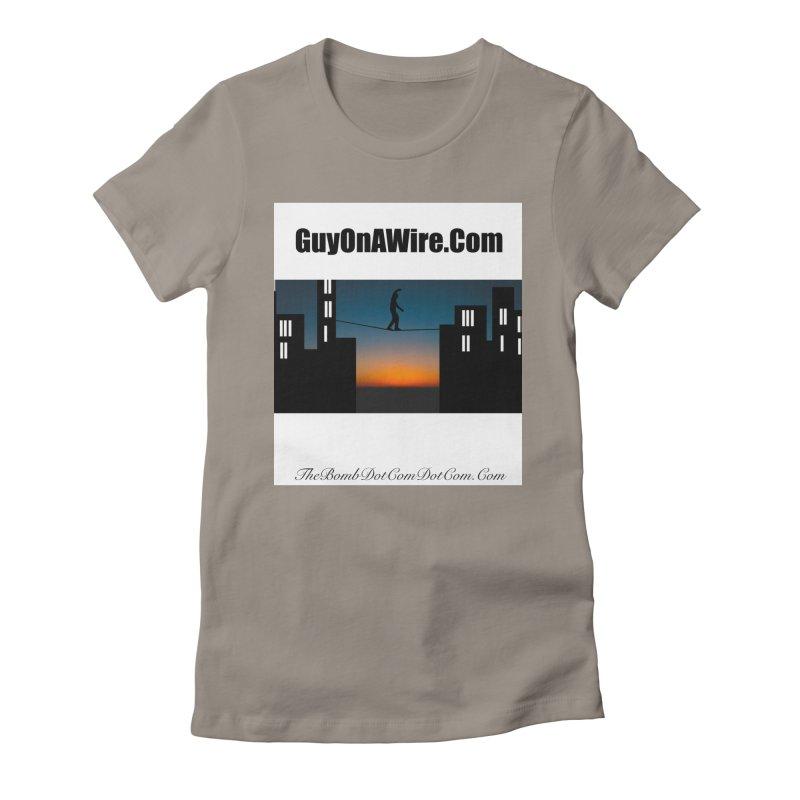 GuyOnAWire.com for Jamie Gagnon Women's Fitted T-Shirt by thebombdotcomdotcom.com