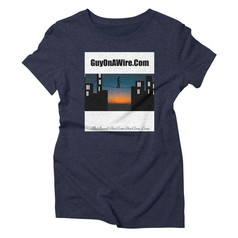 GuyOnAWire.com for Jamie Gagnon Women's Triblend T-Shirt by thebombdotcomdotcom.com